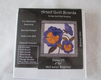Pansy - Artsi2 Quilt Boards - No Sew - DIY - Wallhanging