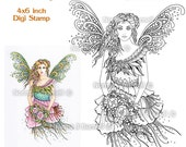 Innocence Fairy Tangles Digital Stamp Fairies Norma J Burnell 4x6 Digi Stamp for Scrapbooking Card Making and Crafting