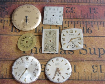 Vintage Antique Watch  Assortment Faces - Steampunk - Scrapbooking n7