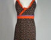 Womens Bib Apron , Handmade, Vintage Inspired Full Apron