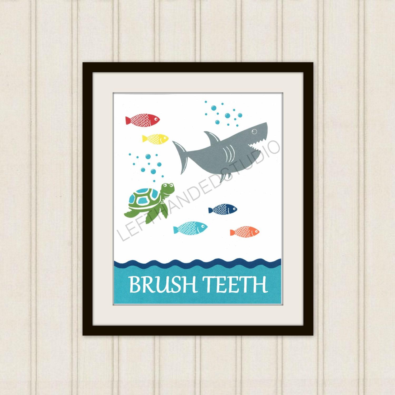 Target circo fish collection art print shark bath decor for Bathroom decor at target