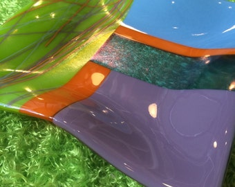 Funky Fused Glass Display Plate
