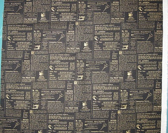 News Paper Articles Design About Sewing Fabric Destash Remnant Piece