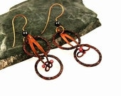 Ethnic Jewelry, Tribal Earrings, Copper, Artisan Made