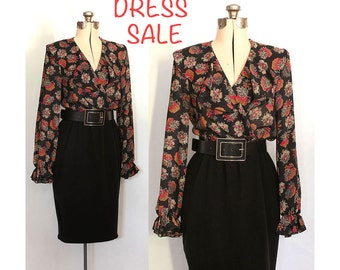 SALE! Vintage 80s Fancy Frilly Dress