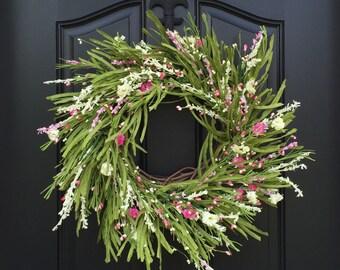 Summer Wreaths, Field of Flowers, Summer Floral Wreath, Door Wreaths, Wild Flowers, Wreaths for Door , Summer Bouquets, Wreaths