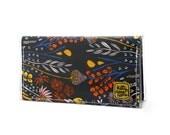 Mini Bi-fold Clutch - Morning Walk - Wispy Daybreak - floral fabric