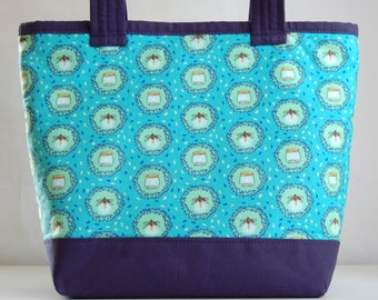 Fireflies Fabric Tote Bag - READY TO SHIP