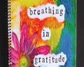 """Breathing in Gratitude 5.5"""" x 8.5"""" Coil Bound Gratitude Journal, Stationery, Wholesale Notebooks"""