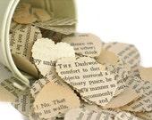 Vintage Jane Austen Paper Heart Confetti, SENSE and SENSIBILITY, Wedding Confetti, Paper Craft Confetti