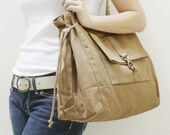 New Year SALE - 20% OFF EZ in Khaki / Messenger / diapers bag / Shoulder Bag / Handbags / School bag / Purses / tote / women / For Her