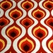 Mod 70s Op Art Danish Modern Design Fabric with a Panton-esque Vibe// Cotton Blend Yardage// Upholstery Weight// Home Decor// 3 Panels