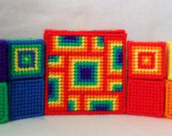 Jingle Bell Block Set -  Red Kaleidoscope