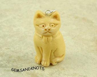 Handmade Kitty Cat Pendant Charm 33mm GK1308