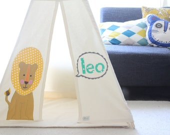 Teepee tent | kids play tipi | Reg size | high quality play tent with Mat and poles | personalized kids teepee | Tipi | Nursery | Wigwam