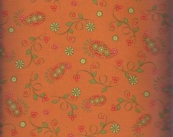 Price Reduced! Paisley & Vine in Orange (ABEL880-O) - BTY - Pat Sloan