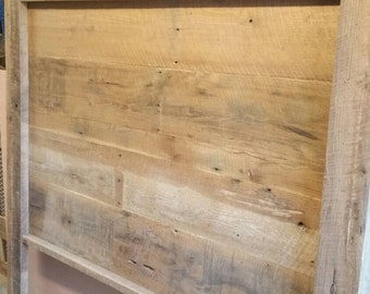 YOUR Made to Order Rustic and Recliamed Barn Wood Headboard with FREE SHIPPING - BWH80