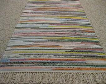 Handwoven Bright Multi Rag Rug (M) (B) 25 x 51