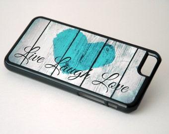 Rustic iPhone 4 Case, iPhone 5 Case, iPhone 6 Case, Inspirational Quote, Live Laugh Love