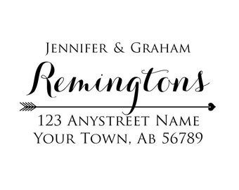 Personalized Self Inking Return Address Stamp - self inking address stamp - Custom Rubber Stamp R289