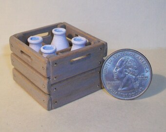 Miniature Milk Crate  1:12 scale
