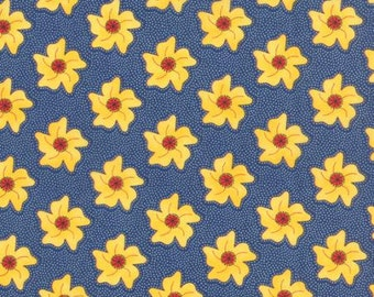Fabric - The Sweet Life By Pat Sloan - Navy Blue with Yellow Flowers 43052-16 - Yardage