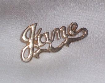 Vintage Jane Pin in Gold Tone