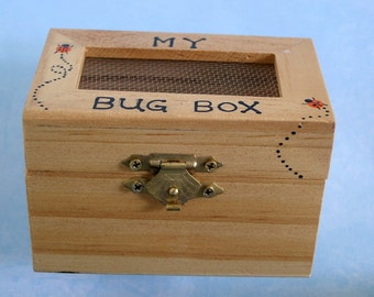 DIY science kit-My bug box-bug collecting-camping-outdoor car trip-adventure game-toy-wooden toy box-children game-entomology-small keepsake