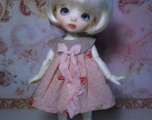 Pink roses Pukifee Dress bjd abjd lati yellow