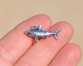 1  Silver Shark Charm SC1624