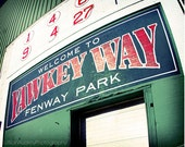 Fenway Park Photograph, Boston Red Sox Boston photography, baseball photo, Red and Green, New England sports gift for him, Yawkey Way