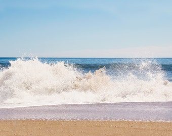 Ocean Photography, Beach Photography, Sea Spray, Plum Island, New England, Coastal Art, Abstract Ocean, Water, Beach Art, Ocean Waves