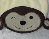 Monkey Bib, Infant Baby Bib, Animal Fleece Bib, Animal Bib, Baby Shower Gift, Baby Bib, Newborn Gift, 2016 Year of the Monkey