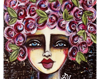 Blessed fine art print of mixed media painting