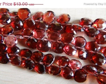 35% OFF Mozambique Garnet faceted heart briolette