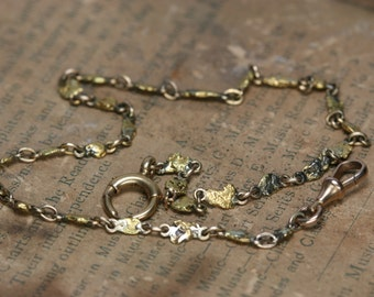 Antique Gold Nugget Watch Chain