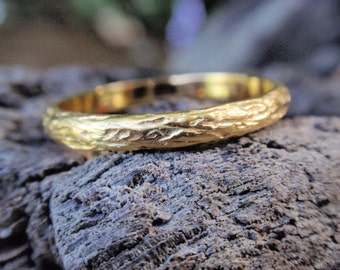 gold wedding band wedding ring for men and women 14k or 18k solid yellow rose white gold twig engagement ring