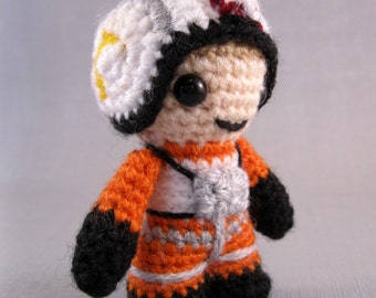 PDF of X-Wing Pilot - Star Wars Mini Amigurumi Pattern