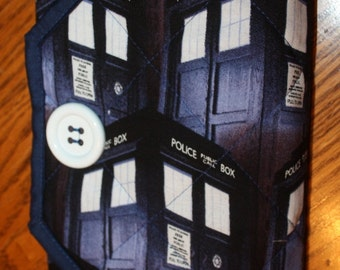 Doctor Who Tardis Quilted Notebook Cover Clutch