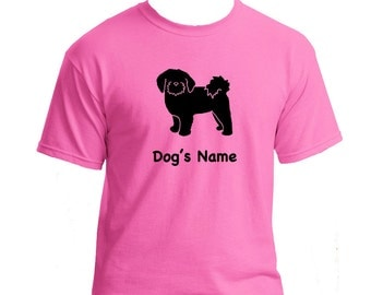 Shih Tzu Puppy Dog Personalized/Custom T-Shirt with Your Dog's Name