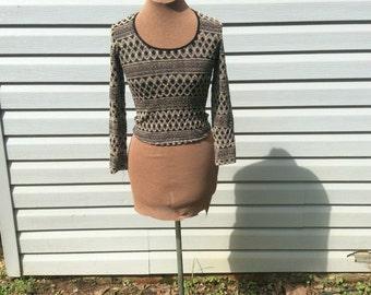 Vintage 1990s Textured Knit Crop Top