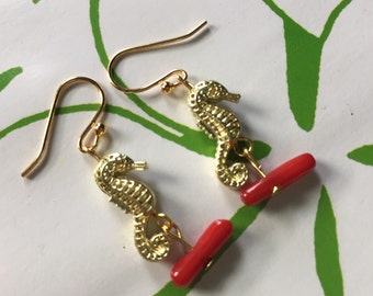 Seahorse Earrings SALE