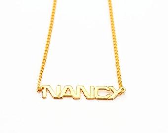 Vintage Name Necklace - Nancy