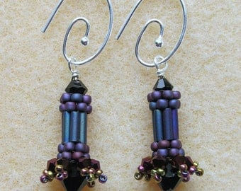 Carnival Earrings (Purple) Jewelry Making KIT
