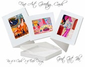 Greeting Cards, Box of 6 Blank Cards, Original Art Cards, Mini Frameable Prints, Unique Signed Art Cards