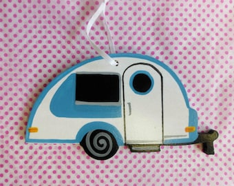 Teardrop Camper Wooden Ornament  T@B Camper