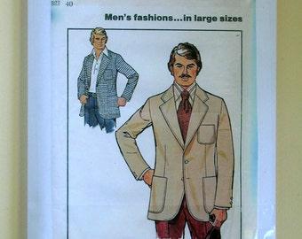 Men's Unlined Sportcoat - Simplicity 7979 - Vintage Sewing Pattern, Size 40