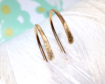 14K Gold Fill - Hooks / gold hoop earrings / 14k gold earrings / gold jewelry / gold earrings / hoop earrings / gold hoops
