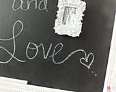 Cork and Chalkboard framed combo