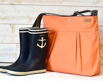 BEST SELLER Diaper bag / Crossbody purse / Tote Bag STOCKHOLM Coral summer fashion bag